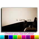 Vintage I Love You Typewriter Single Canvas Wall Art Picture Print 13