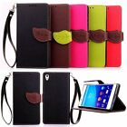 Flip Leather Card Holder Wallet Case Cover For LG G3 Sony Xperia Htc moto iphone