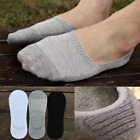 US 6 Pairs Men Cotton Invisible No Show Nonslip Loafer Boat Liner Low Cut Socks