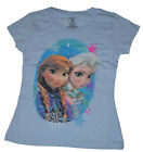 NWT DISNEY Frozen Sister Cameo Elsa Anna Textured T-shirt Powder Blue FREE SHIP