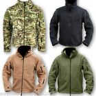 ARMY TACTICAL FLEECE HOODED JACKET FULL ZIP HOODIE MTP GREEN CAMPING ARMY CADET
