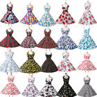 LADIES 1950'S 1960'S VINTAGE STYLE ROCKABILLY RETRO SWING PINUP PARTY PROM DRESS