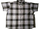 Casual Country Men's Plaid Western Short Sleeve Shirt BIG & TALL (Gray Ghost)