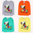 Cute Zebra Boys Kids Summer Long Sleeve Cotton Tee Tops T-shirt Toddlers Clothes