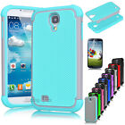Hybrid Rugged Rubber Matte Hard Case Cover for Samsung Galaxy S4 S IV I9500+Film