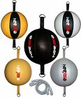 Leather Double End Ball Speed Ball Set Dodge Floor to Ceiling Rope Punch Bag