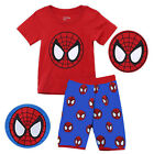 Boy Spiderman T Shirt and Shorts Set Kids Summer Outfit New Age 2 3 4 5 6 7 Year