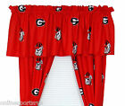 Georgia Bulldogs Valance & Curtain Set with Tie Backs