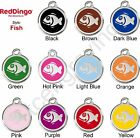 Red Dingo FISH Engraved Dog ID Pet Tag / Charm - Lifetime Guarantee