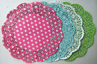 "50pcs Colorful 10""Inch Polka Dot Paper Lace Doilies, Craft Doily, Wedding Cards"