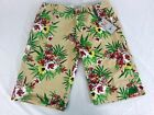 NWT Men's The Fresh Brand Floral 100% Cotton Hawaiian Casual Shorts 30