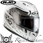 HJC FG-17 STRIKE WHITE BLACK TRI-COMPOSITE MOTORCYCLE MOTORBIKE BIKE HELMET