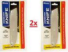LOT OF 1X 2X RETRACTABLE UTILITY KNIFE Metal Box Cutter Pocket Razor Slide Blade