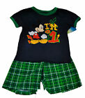NWT GENUINE DISNEY Toddler Boys Short Set MICKEY MOUSE I'M # 1 FREE SHIPPING