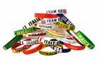 24 x Country Silicone Rubber Wristbands - Olympics Summer Winter Euros