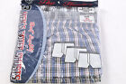 Men's New Cotton Blend Fly Front Wide Elastic Waistband 3-Pack Plaid Boxers, XL