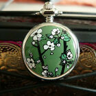 Cute Antique Japanese Flower Children Woman Necklace Quart Watch 3 Colors