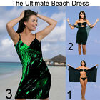 Saress MIDNIGHT EMERALD Beachdress Coverup Swimwear Bikini Wrap Sarong Dress