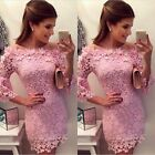 Lace Short Formal Dress Cocktail Prom Ball Gown Evening Party Bridesmaid Dress