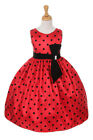black girls pretty - Pretty Black Flock Red Taffeta Polka Dot Velvet Bow Summer Flower Girl Dress