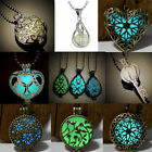 Glowing Steampunk Necklace Magical Hollow Fairy Glow In The Dark Unisex Jewelry