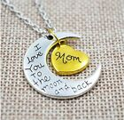 HALSKETTE I LOVE YOU TO THE MOON AND BACK GOLD MOND ICH LIEBE DICH ANHÄNGER