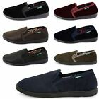 NEW MENS DUNLOP TWIN GUSSET SOFT CHSHIONED SLIPPERS SHOES FAUX SUEDE BOOTS SIZE