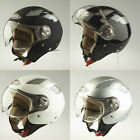 VIPER RS-16 OPEN FACE JET MOTORCYCLE MOTORBIKE SCOOTER HELMET WITH VISOR RS16