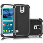 Shockproof Hybrid Rubber Hard Protective Case Cover for Samsung Galaxy S5 i9600