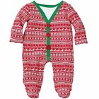 Mud Pie Christmas Cardigan Footed One-Piece 03M-09M #1032215 NWT