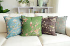 French Country Retro Vintage Bird Cotton Linen Throw Pillow Cushion Cover