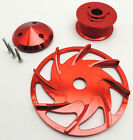 GM / FORD BILLET ALUMINUM ALTERNATOR PULLEY - ANODIZED RED FINISH # WPM-PC-7126D