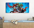 Marvel Cartoon Stretched Canvas Print Framed Wall Art Kids Nursery Decor Hanging