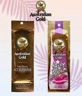 AUSTRALIAN GOLD DARK TANNING SUN BED ACCELERATOR OR CHEEKY BROWN LOTION SACHETS