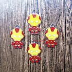 wholesale Cartoon iron man Metal Charm Pendant DIY Necklace Jewelry Making