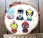 wholesale cartoon the avengers Metal Charm Pendant DIY Necklace Jewelry Making