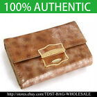 [OMNIA]Crystal Ladies Wallet Genuine Leather Trifold Purse ID Card Coins Bag309M