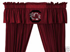 South Carolina Gamecocks Drapes Curtains & Valance Set with Tie Backs
