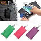 New Men Women Soft Leather Key Bag Keychain Credit Card Holder Case Purse Wallet