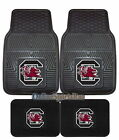 South Carolina Gamecocks Car Mats 4 Piece Front & Rear Heavy Duty Vinyl