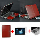 Brown Leather Laptop Sleeve Case/Keyboard Cover For MacBook Air Pro 11