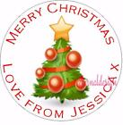 PERSONALISED CHRISTMAS CIRCLE STICKERS GIFT FAVOUR (Buy 2 get 1 free) XDCS6