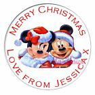 PERSONALISED CHRISTMAS CIRCLE STICKERS GIFT FAVOUR (Buy 2 get 1 free) XDCS18