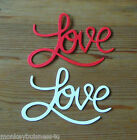 8 - Word Die Cuts - Love - Sizzix Shape - Party -  Wedding Invitations - Cards