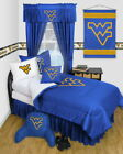 West Virginia Mountaineers Comforter Sham Pillowcase Twin Full Queen Size LR