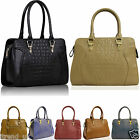 Womens Ladies Designer Celebrity Shoulder Bags Faux Leather Satchel Handbags
