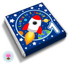 Personalised Space ROCKET Boy's 1st 2nd 3rd 4th Birthday Party Favour Chocolates
