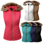 NE PEOPLE Women Lightweight Fur Trim Hooded Puffer Zip up Qu
