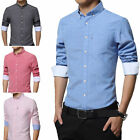 New Men's Business Casual Dress Long sleeve Shirts Camisas 7 Color 6 Size T6274