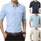 Mens Luxury Dress Shirts Casual Slim Polka Dot Long sleeve 5 Color 6 Size T6275